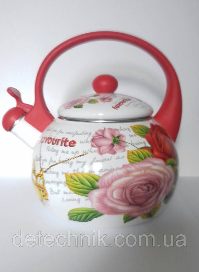Чайник для газовой плиты эмалированный