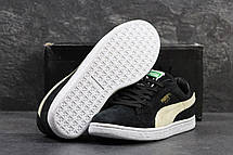 Мужские кроссовки Puma Suede (Румыния) черные с бежевым, фото 2