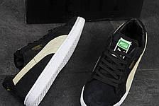 Мужские кроссовки Puma Suede (Румыния) черные с бежевым, фото 3