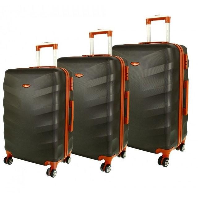 9252a0bae48a Дорожный чемодан сумка Exclusive набор 3 штуки графит - Интернет магазин  Balos в Днепре