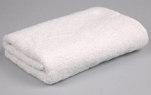 Полотенце махровое 70х140 Белое 400 г/м2 , фото 2