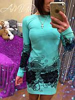 Платье с цветочным рисунком. 4 варианта