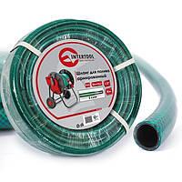 """Шланг для полива 3-х слойный 1/2"""", 30м, армированный PVC INTERTOOL GE-4025"""