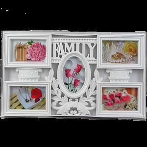 Семейная мультирамка с надписью на 5 фотографий 2 цвета