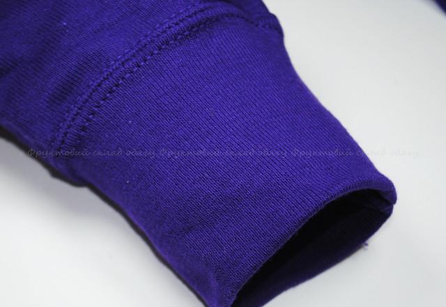 Фиолетовая мужская лёгкая толстовка с капюшоном