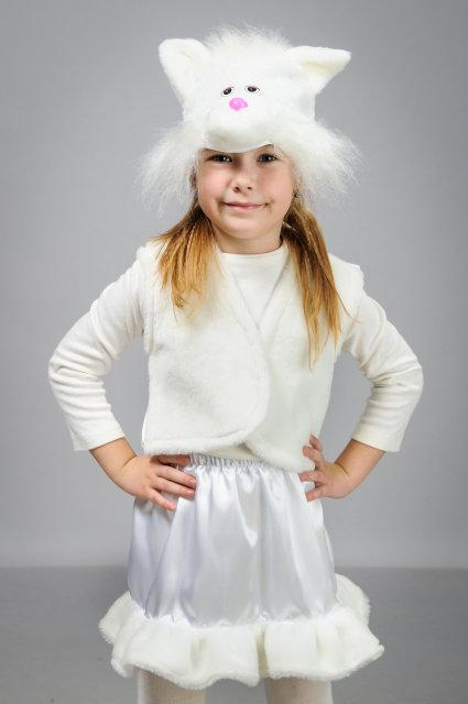 Детский карнавальный костюм Кошка атлас (30-36)