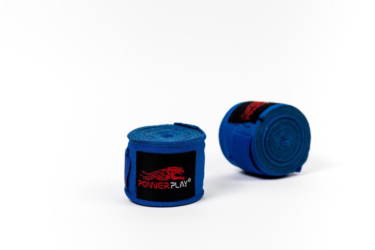 Бинты боксерские PowerPlay 3046 blue 3 м