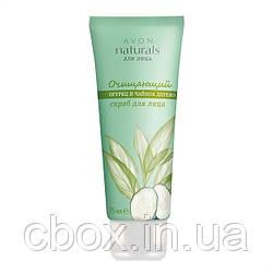 """Скраб для обличчя Avon Naturals """"огірок і чайне дерево"""", що очищає, ейвон, 75 мл"""