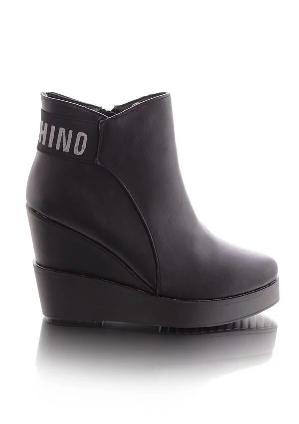 8903349f2 Купить Женские ботинки демисезонные на высокой танкетке 16081 в ...