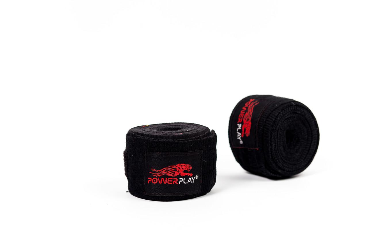 Бинты боксерские PowerPlay 3046 black 2,5 м