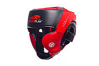 Шлем боксерский PowerPlay 3031 Platinum red-black / S, фото 1