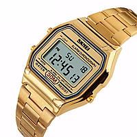 Мужские классические часы Skmei 1123 золотистый