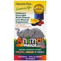 Animal Parade Мультивитамины для детей в форме животных 180 жев таб (вишня апельсин виноград) Nature's PlusUSA