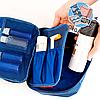 Дорожный органайзер для косметики с отстегивающимся кармашком ORGANIZE (синий)