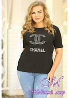 Женская футболка большого размера (р. 48-50) арт. CHANEL