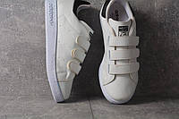 Кроссовки на липучке Adidas Stan Smith (Бело-черные )
