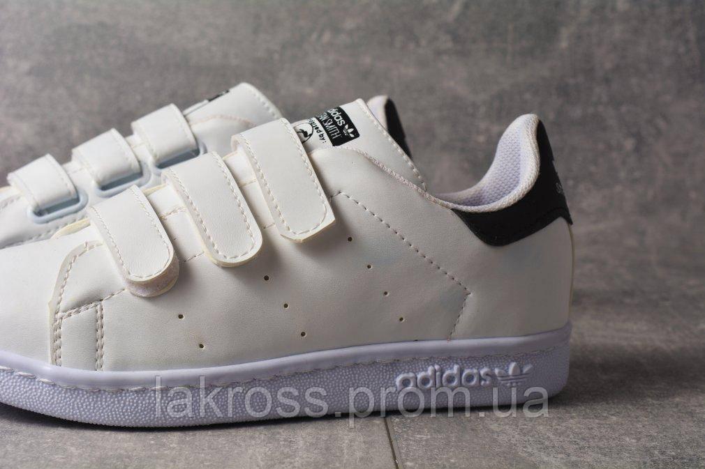 Кроссовки на Липучке Adidas Stan Smith (Бело-черные ) — в Категории ... 0d8e152050ac0