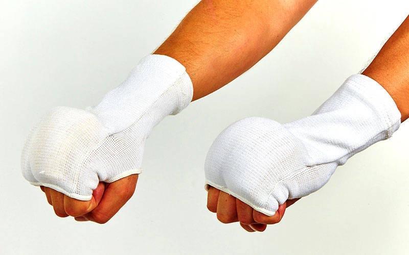 Накладки (перчатки) для каратэ (PL, хлопок, эластан, р-р S-XL, белый) - ukr-sport.prom.ua в Одессе