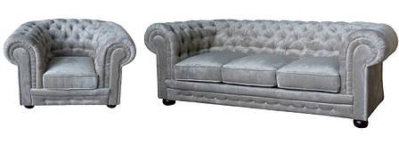 """Комплект меблів в англійському стилі """"Chester"""" (Честер). (3р+1), фото 2"""