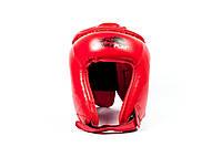 Шолом боксерський PowerPlay 3045 / PU / red / M, фото 1
