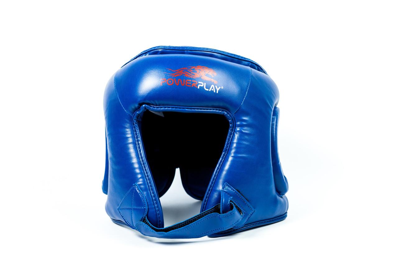 Шолом боксерський PowerPlay 3045 / PU / blue / M