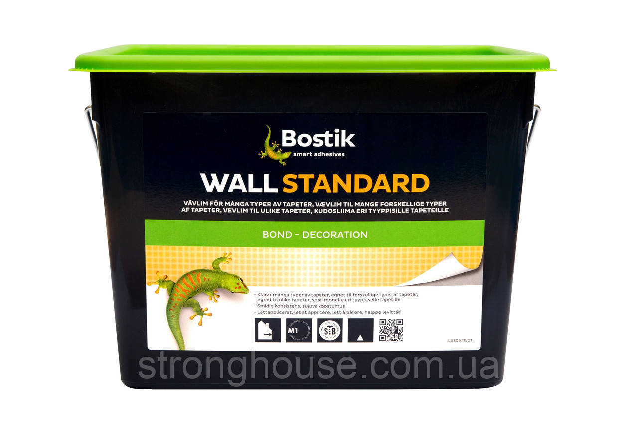 Клей для тканей и обоев Bostik (Бостик) 70 Wall Standard  15кг - StrongHouse в Киеве