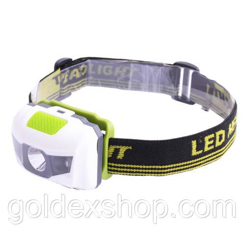 Налобный фонарь  T16/ 118-LM+2Led крас., на лоб (W03)