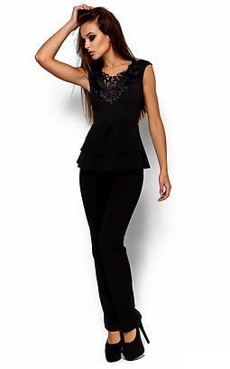 Стильний жіночий чорний топ Melani