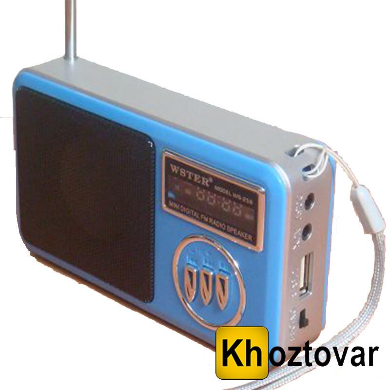 Радіоприймач WSTER WS-258 | USB/SDCard Reader