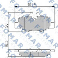 FO924781 Fomar Roulunds - колодки тормозные задние дисковые