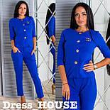 Женский стильный костюм-двойка в стиле жакет и брюки (4 цвета), фото 6