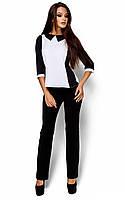 Жіноча класична чорно-біла блузка Maly