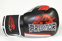 Перчатки боксерские Powerplay 3005 / WOLF /PU / black 8oz, фото 1