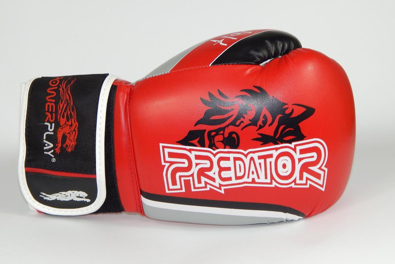 Перчатки боксерские Powerplay 3005 / WOLF /PU / red 8oz