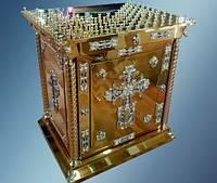 Панихидный стол с крестом и дверцами (нитрид титана)