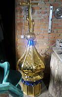 Купол из нитрид титана в стиле чешуя, размер 1.5м.