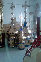 Купола с большими крестами для храмов на заказ