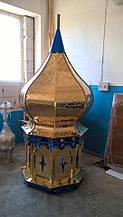 Большой православный купол d/120cm с тиснением рельефа из булата
