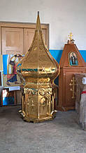Церковный купол под золото из нитрид титана d/100cm
