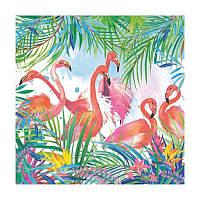 """Салфетка для декупажа """"Фламинго"""", 33*33 см"""