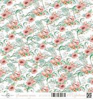 "Бумага для скрапбукинга ""Лапочка-дочка"", Цветочек, 30х30 см"