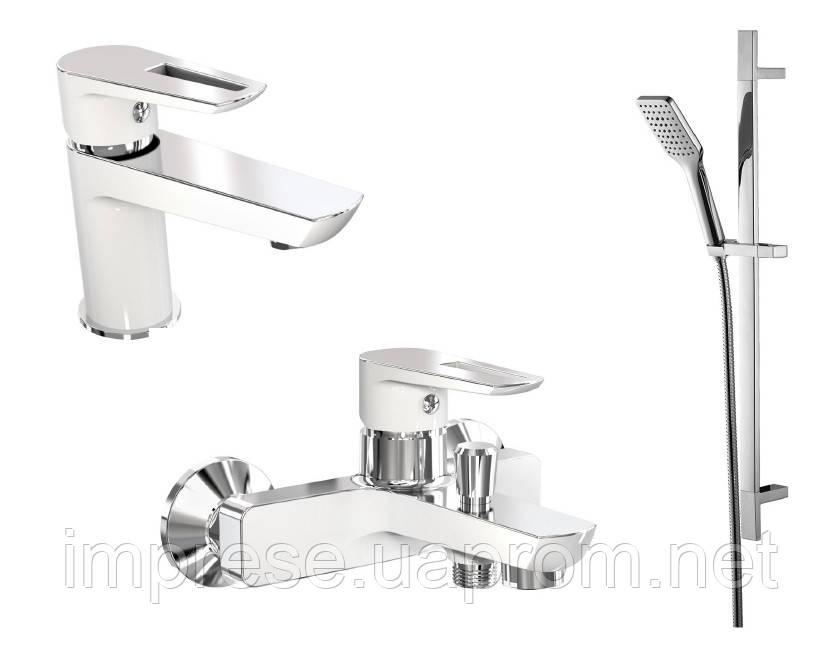 Набір для ванної кімнати Breclav W (білий-хром)