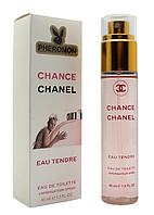 Женский мини-парфюм с феромонами Chanel Chance Eau Tendre (Шанель Шанс Тендер), 45 мл