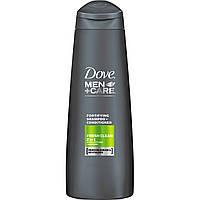 Мужской укрепляющий шампунь-кондиционер для волос Dove men+care Fresh Clean 2in1, 400 мл (Польша)
