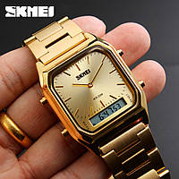Мужские классические часы Skmei 1220 бронзовый, фото 1