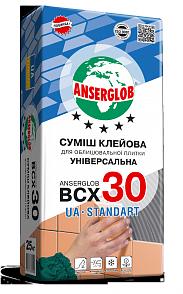 Клей для облицовки керамической плитки ANSERGLOB BCХ 30, 25кг