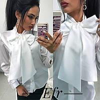 Блуза женская ,материал: шелк армани цвета: белый, бежевый, бордовый ефран №204-11