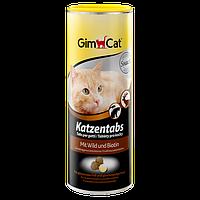 GimCat (Джимкет) KATZENTABS с дичью и биотином 425г/710шт - витаминизированное лакомство для кошек