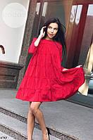 Женское стильное свободное миди платье