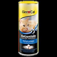 GimCat (Джимкет) KATZENTABS с рыбой и биотином 425г/710шт - витаминизированное лакомство для кошек